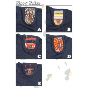 子供服PeggyEthnic(ペギーエスニック)山岳民族ワンポイントTシャツ