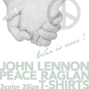 WAR IS OVER!!ジョンレノン・ピース・ラグランTシャツ