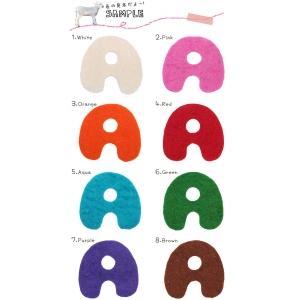 フェルト アルファベット Lサイズ【A~P】8カラー |