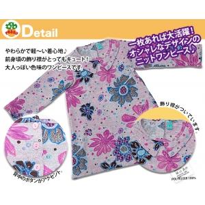 子供服Peggy★デザインプリントニットワンピース 3タイプ★80~130サイズ