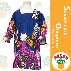 子供服Peggy★袖フリル スクエアネックワンピース★80~110サイズ |