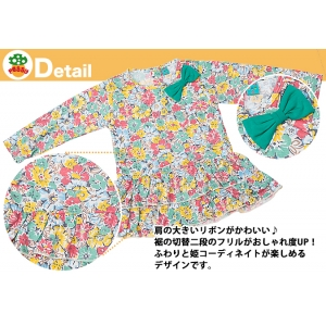 子供服Peggy★肩リボン付フリルチュニック 2タイプ★80~120サイズ |