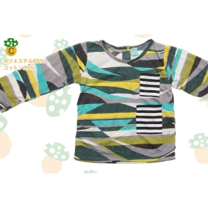 子供服 ペギープリント 長袖Tシャツ |