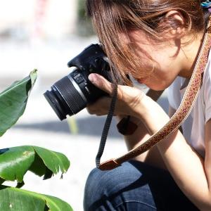 おしゃれなカメラストラップ チロリアンテープ ネイティブ ペイズリー