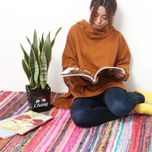 エスニック ラグマット 裂き織り コットン シルク インテリア インド ベッドカバー ソファカバー エスニック雑貨 アジアンインテリア