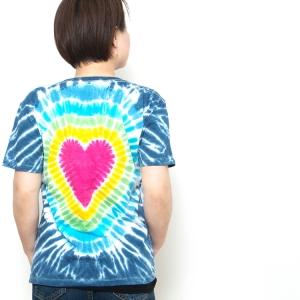 タイダイ tシャツ ハート レインボー EDM ファッション  ネオンカラー BOHO コーデ パリピ ファッション フェス ファッション アジアン エスニック