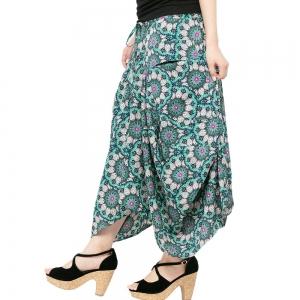 エスニック スカート ロング マキシ レディース エスニック ファッション アジアン ファッション おしゃれ ペイズリー アシンメトリー