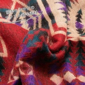 エスニック パーカー ジップアップ 起毛 フリース ジャケット アウター レディース メンズ 冬 あったか ペイズリー ネイティブ アジアン