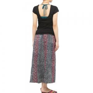 エスニック スカート モン族 刺繍 レディース 藍染め 春 夏 ネイビー 紺色 タイト フレアスカート ポケット エスニックファッション アジアンファッション インディゴ 和風