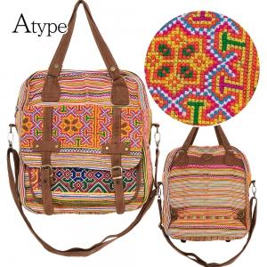 モン族 刺繍 リュックサック 3way バックパック トートバッグ ショルダーバッグ レディース エスニックバッグ かわいい アジアン ファッション