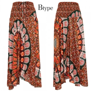エスニック ロング スカート 2way ホルターネック ワンピース レディース ファッション アジアン かわいい 派手