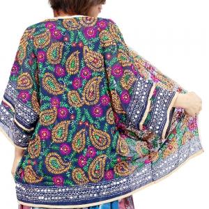 エスニック カーディガン 刺繍 レディース エスニックファッション アジアンファッション トッパー ゆったり 体型カバー 大きいサイズ スパンコール ビーズ ヒッピー