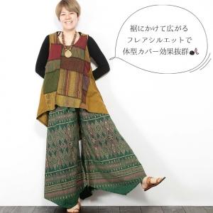 エスニック チュニック ノースリーブ パッチワーク レディース 4カラー エスニックファッション アジアンファッション かわいい ゆったり おしゃれ