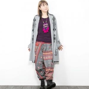 エスニック トッパー カーディガン 羽織り レディース メンズ エスニックファッション アジアンファッション ネイティブ柄 ゆったり