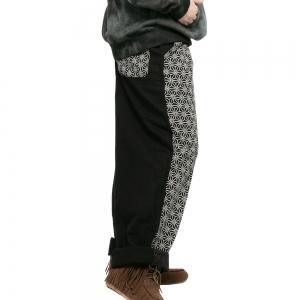エスニック パンツ ロングパンツ メンズ レディース ファッション ボトムス 麻の葉 和柄 泥染め 冬 秋 春 かわいい おしゃれ アジアン