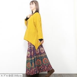 エスニック スカート レディース ロング マキシ 夏 エスニックファッション アジアンファッション フレア インド綿 派手 個性的 ボヘミアン ヒッピー