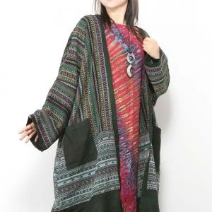 エスニック カーディガン ロング レディース メンズ 男女兼用 ゆったり アジアン ファッション カーデ 羽織り かわいい おしゃれ