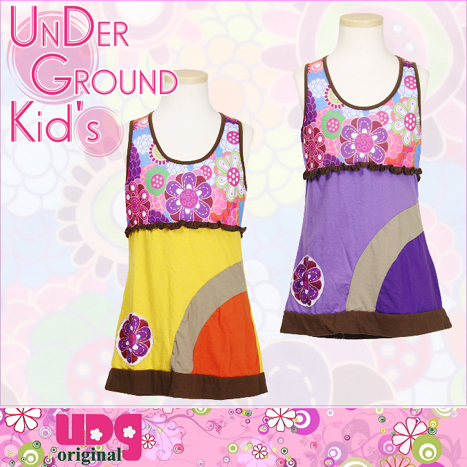 ★UNDER GROUND KID'S★子供服アンダーグラウンド・レトロフラワーワンピース