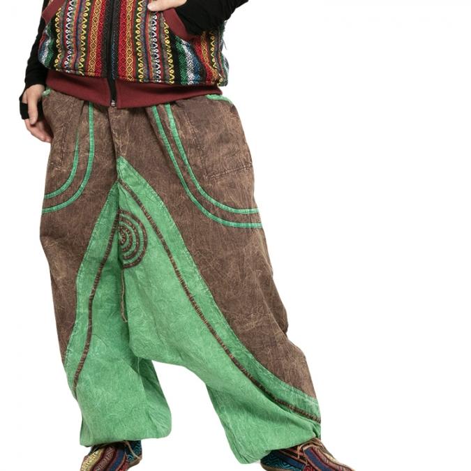 エスニック パンツ サルエルパンツ 【エスニック メンズ レディース エスニック ファッション アジアン ファッション ユニセックス ゆったり 大きめ ポケット】