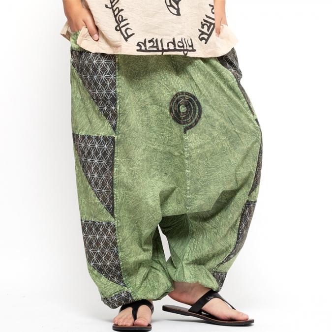 エスニック サルエルパンツ 【エスニック メンズ レディース サルエル パンツ エスニックファッション アジアンファッション ヨガ ダンス ゆったり 大きめサイズ】