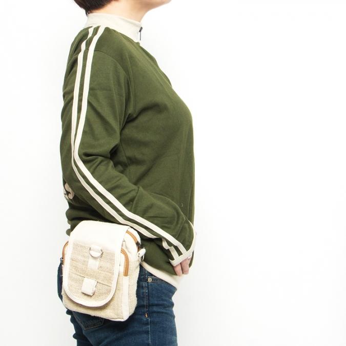 エスニック ショルダー バッグ ウェストバッグ 2way【エスニックバッグ ショルダーバッグ ヘンプ 麻 エスニックファッション アジアンファッション ミニバッグ フェス】
