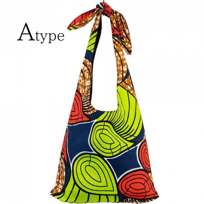 エスニック バッグ ショルダー アフリカンプリント ミニ レディース アフリカンバティック カンガ アジアン おしゃれ かわいい エコバッグ サブバッグ