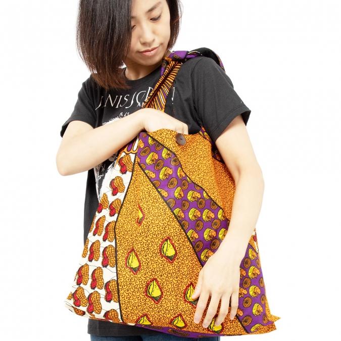 エスニック バッグ ショルダー アフリカンプリント 大容量 レディース メンズ アフリカンバティック カンガ アジアン おしゃれ かわいい エコバッグ 大きめ