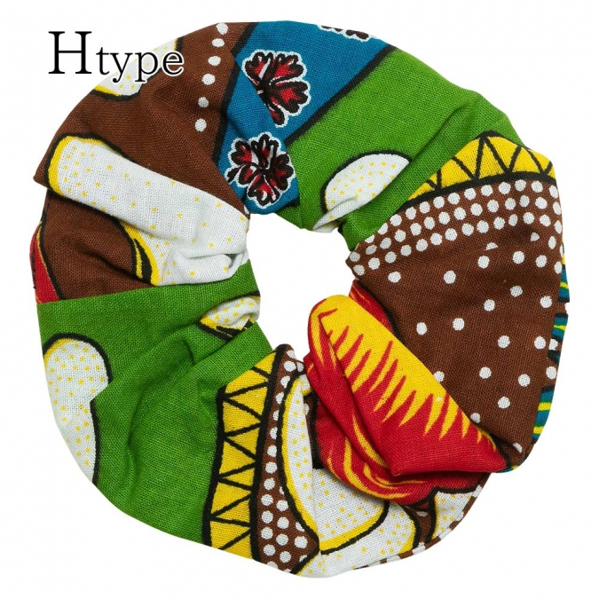 エスニック シュシュ ヘアゴム ヘアアクセサリー レディース アフリカンプリント アジアン おしゃれ かわいい ヘアアレンジ アクセント おだんご