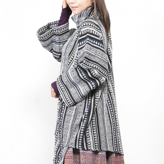 エスニック シャツ プルオーバー アウター 七分袖 ファッション メンズ レディース 男女兼用 冬 秋 春 ユニセックス ネイティブ柄 大きいサイズ 大きめ おしゃれ アジアン