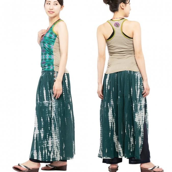 エスニック タンクトップ レトロ レディース ノースリーブ アジアン ファッション かわいい おしゃれ